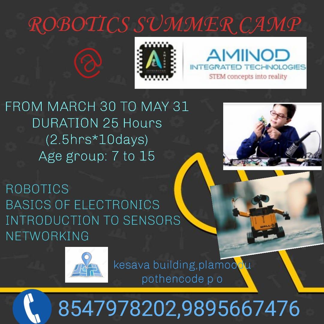 ROBOTICS SUMMER CAMP – Aminod Integrated Technologies